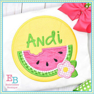 Watermelon Circle Satin Applique