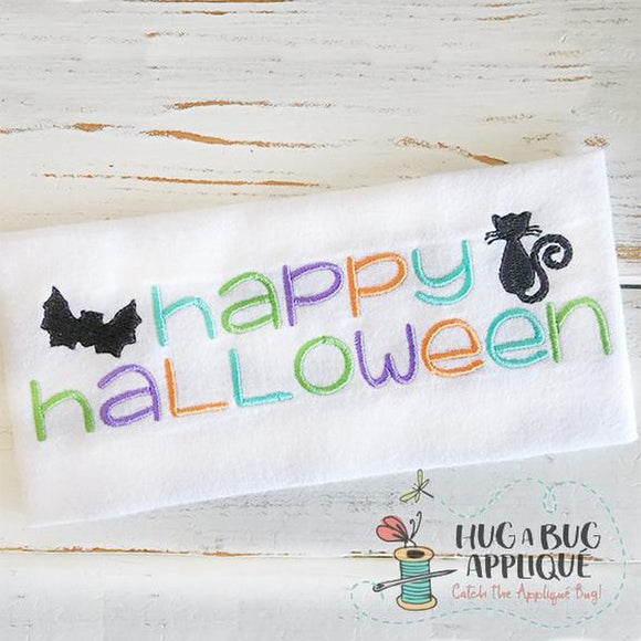 Happy Halloween Embroidery Design, Embroidery