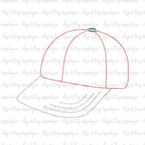 Baseball Hat Bean Stitch Applique, Applique