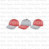 Baseball Hat Trio Sketch Stitch Embroidery