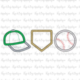 Hat Home Ball Trio Satin Stitch Applique