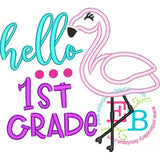 Hello First Grade Applique, Applique