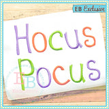 Hocus Pocus Embroidery Font, Embroidery Font