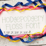 Hodgepodgery Floss Stitch Embroidery Font-Embroidery Boutique