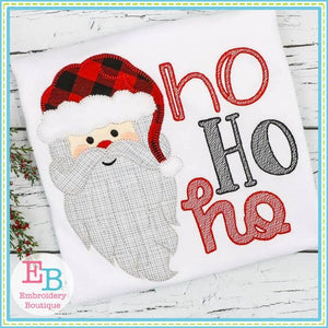 Ho Ho Ho Santa Face Applique - embroidery-boutique