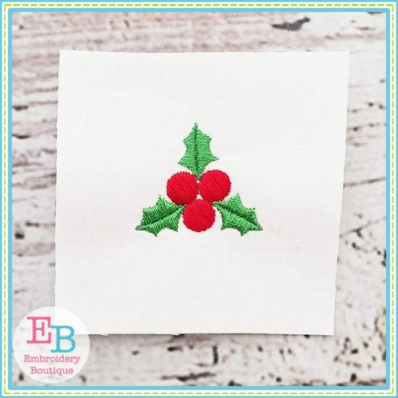 Holly Mini Embroidery Design, Embroidery