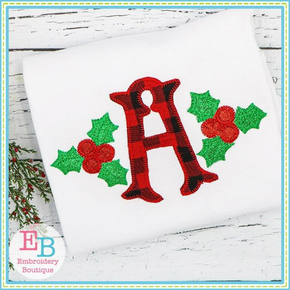 Laurel Blanket Stitch Applique Alphabet, Applique Alphabet