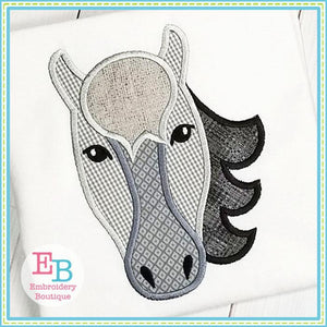 Horse Applique, Horse Embroidery Design, Horse Head Applique