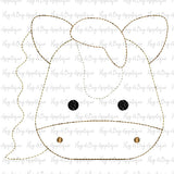 Horse Bean Stitch Applique Design-Embroidery Boutique