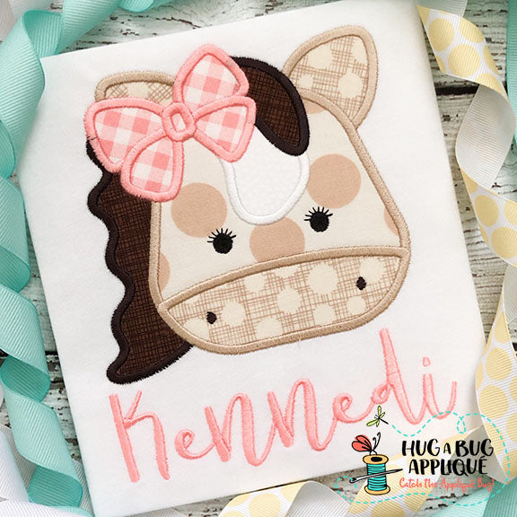 Horse Bow Satin Stitch Applique Design, Applique