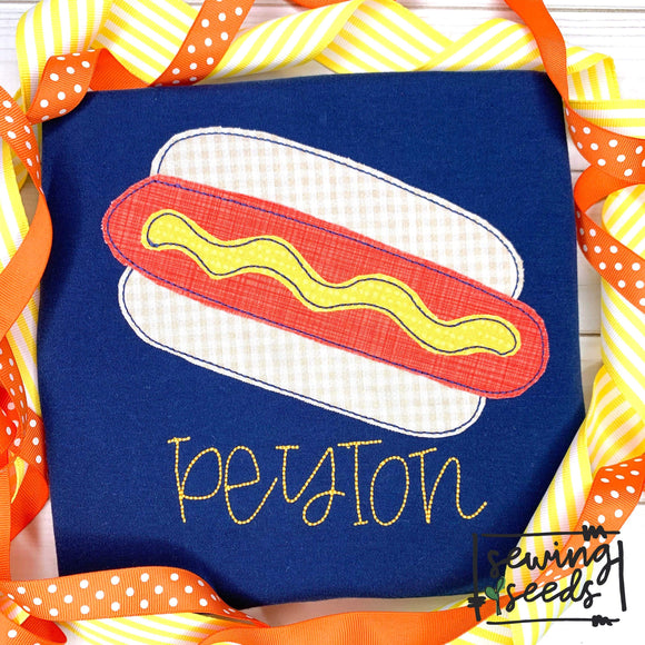 Hot Dog Applique SS