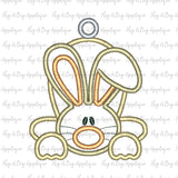 Flop Ear Bunny Satin Stitch Applique Design, Applique