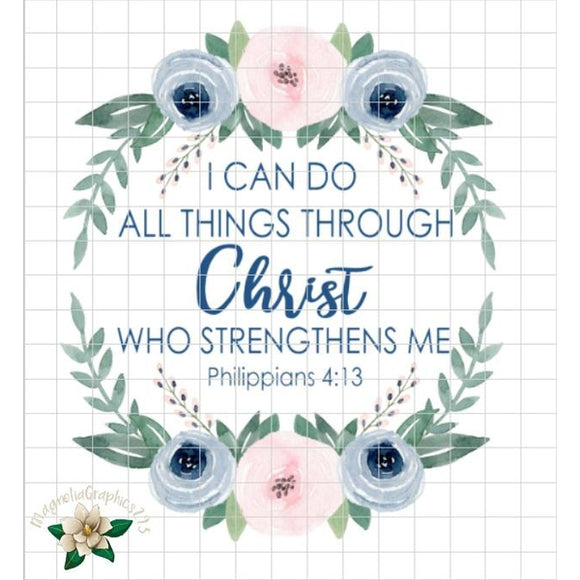 I can do all things through Christ PNG Printable - embroidery-boutique