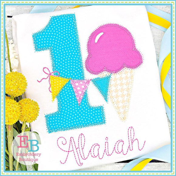 Ice Cream Applique Numbers