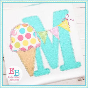 Ice Cream Applique Alphabet