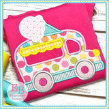 Ice Cream Truck Applique - Embroidery Boutique