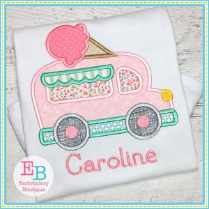 Ice Cream Truck Applique, Applique