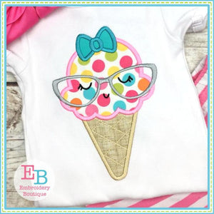 Ice Cream Glasses Applique - Embroidery Boutique