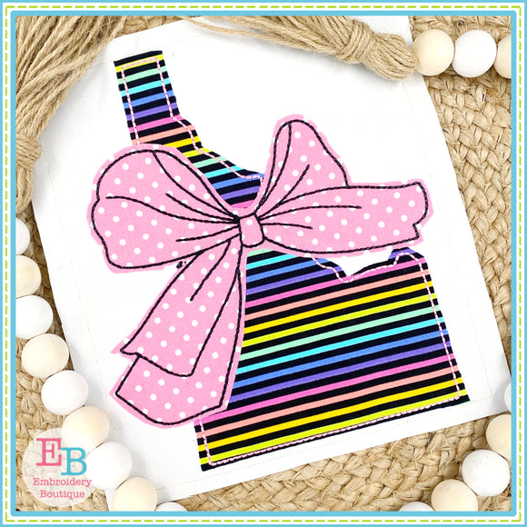 Big Bow Idaho Bean Stitch Applique, Applique