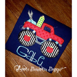 Back to School Monster Truck Applique Design - Embroidery Boutique