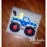 Back to School Monster Truck Applique Design - embroidery-boutique