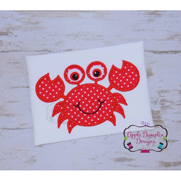 Cute Crab Applique Design