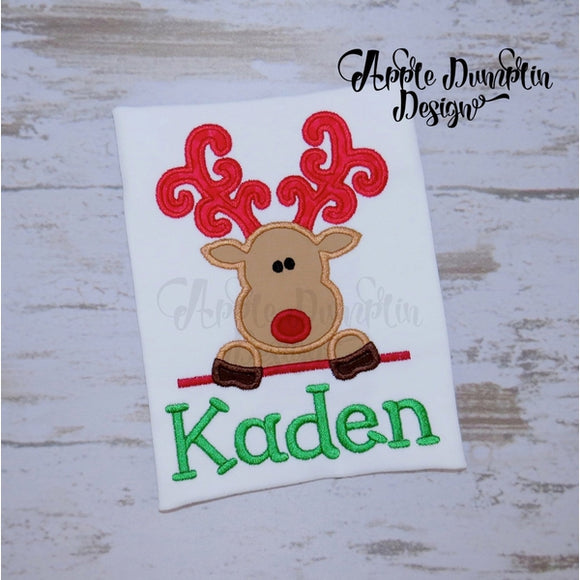 Christmas Reindeer Applique Design - Embroidery Boutique
