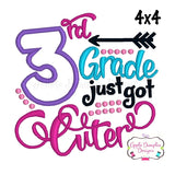 3rd Grade Just Got Cuter Applique Design