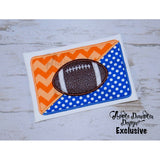 Football House Divided Frame Applique Design, applique