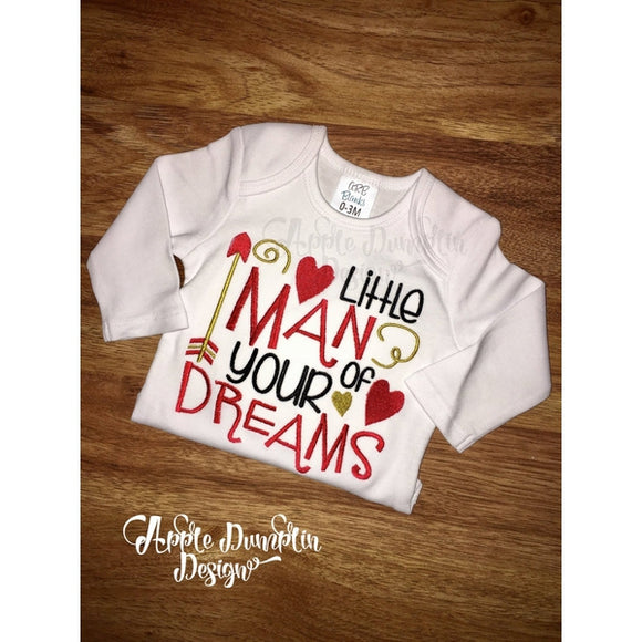 Little Man of Your Dreams Embroidery Design