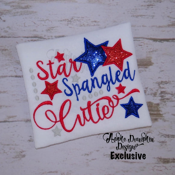 Star Spangled Cutie Applique Design - embroidery-boutique