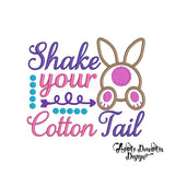 Shake your Cotton Tail Applique Design - embroidery-boutique
