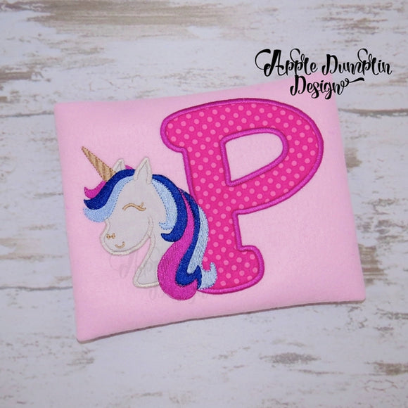 Unicorn Alphabet Applique Set
