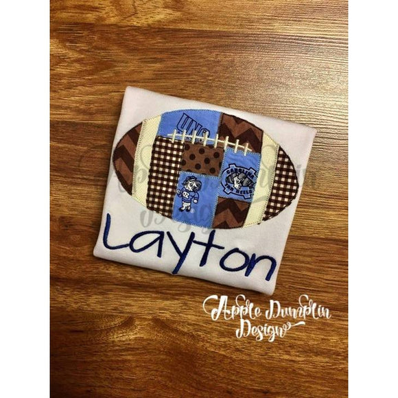 Patchwork Football Applique Design - embroidery-boutique
