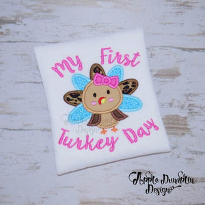 My First Turkey Day Applique Design
