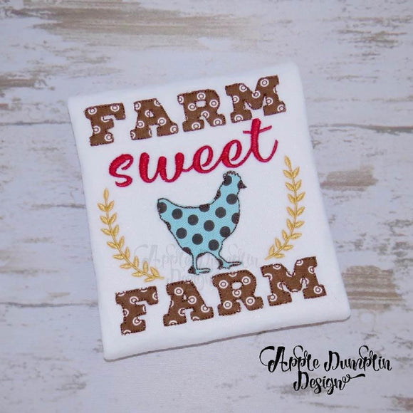 Farm Sweet Farm, Bean Stitch, Applique Design - embroidery-boutique