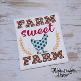 Farm Sweet Farm, Bean Stitch, Applique Design, applique