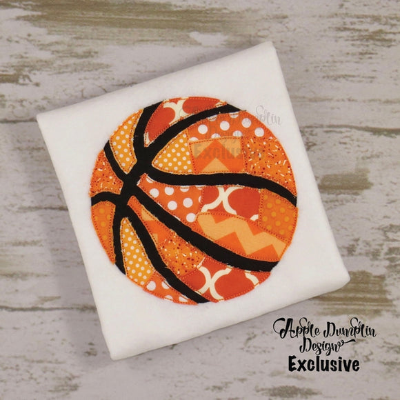 PatchworkBasketball, Bean Stitch, Applique Design