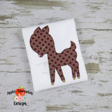 Deer Bean Stitch Applique Design - Embroidery Boutique