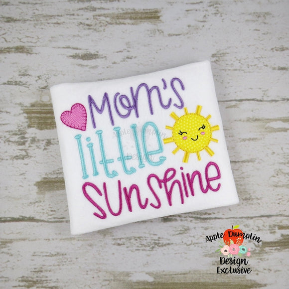 Mom's Little Sunshine Blanket Stitch  Applique Design, applique