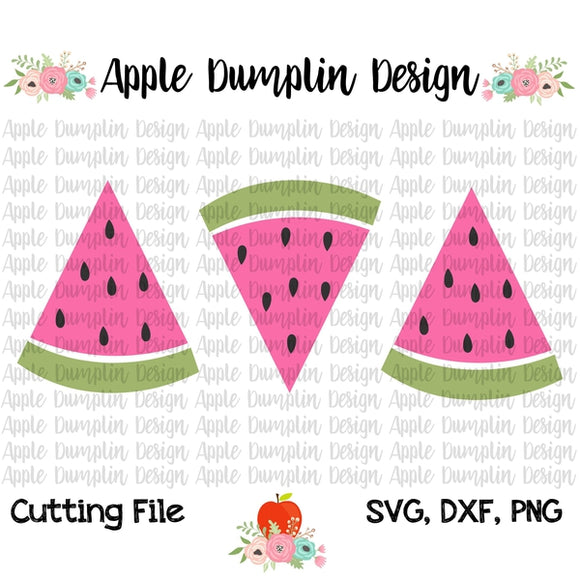 Watermelon Trio SVG - embroidery-boutique