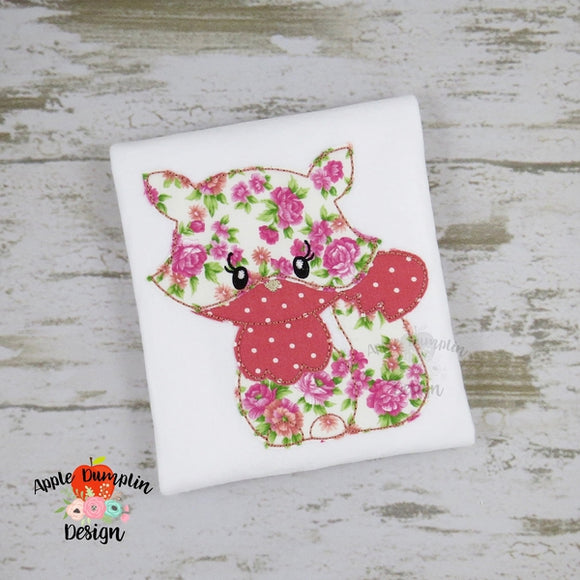 Fox Bean Stitch Applique Design - Embroidery Boutique