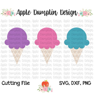 Ice Cream Cone Trio SVG