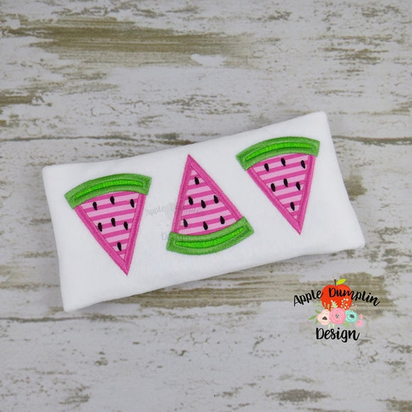 Watermelon Trio Applique Design - embroidery-boutique