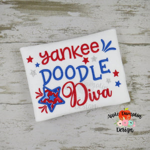 Yankee Doodle Diva Applique Design - embroidery-boutique