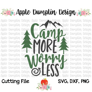 Camp More Worry Less SVG - embroidery-boutique