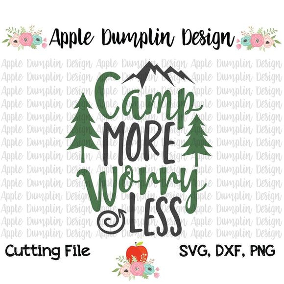 Camp More Worry Less SVG, SVG