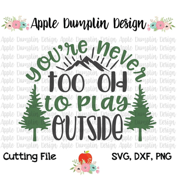 Your'e Never Too Old to Play Outside SVG, SVG