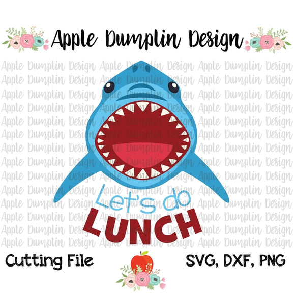 Let's Do Lunch, Shark SVG - embroidery-boutique