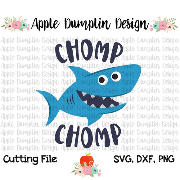 Chomp Chomp Shark SVG - embroidery-boutique